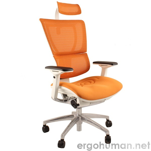 Mirus Office Chair White Frame